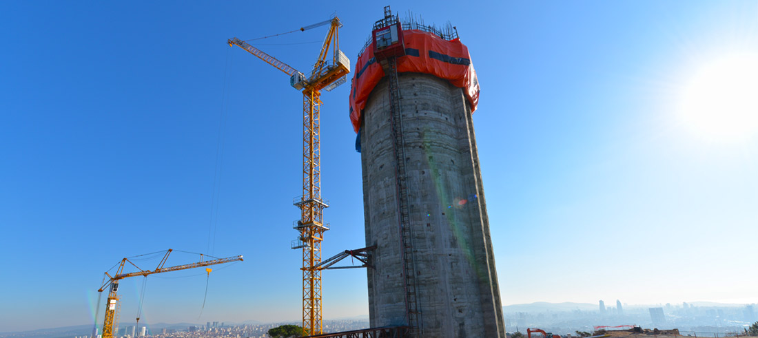 Çamlıca TV Radyo Kulesi 128 Metreye Ulaştı