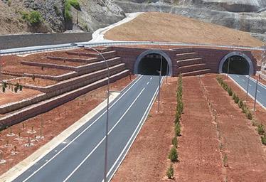Erkenek Tünelinde Terramesh Sistem Duvar Uygulaması